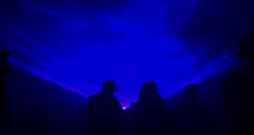 Blue fan & wave lasers