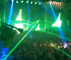 Night club with Green & Blue lasers