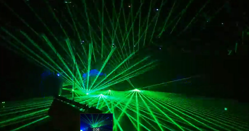 Array of Green Laser light Show