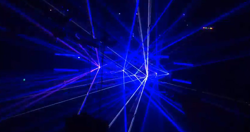 insane laser light show spectacle