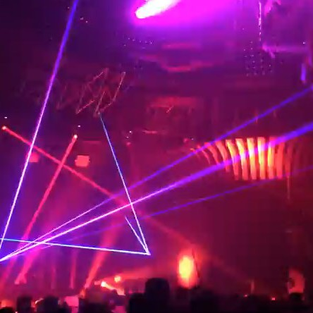 Purple laser light show