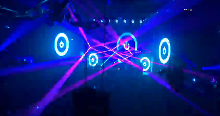 Laser projections, wall projected lasers