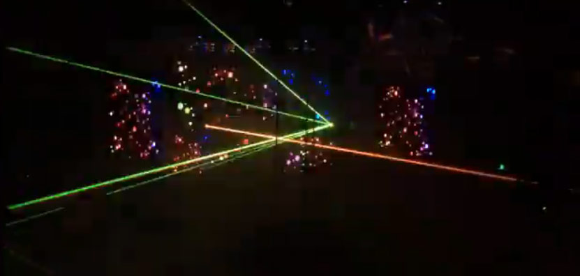rave with lasers, night club with lasers