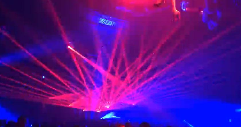 Red laser light show