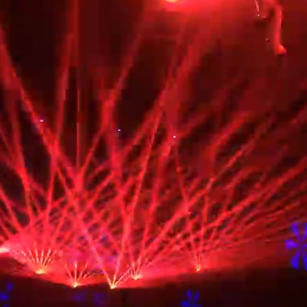 Red laser light show