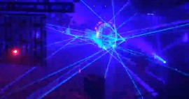 Ridiculous laser show