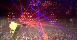 Crazy laser light show