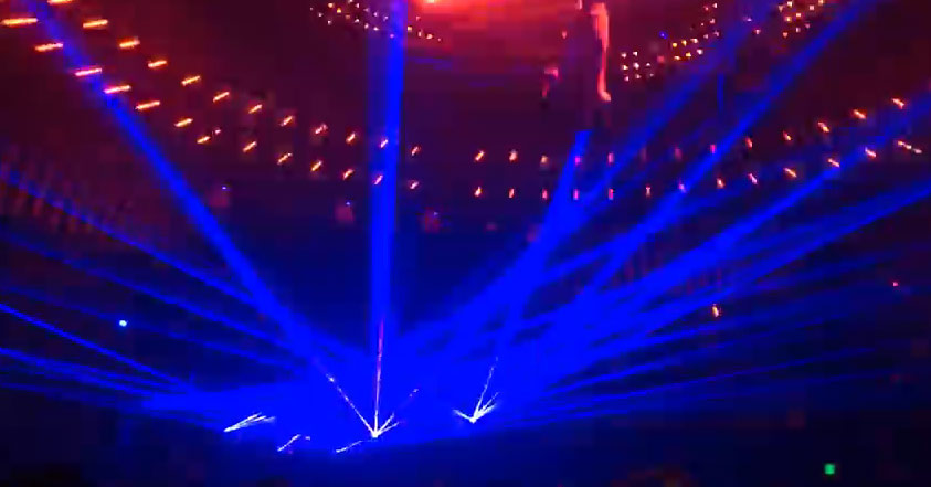 Epic laser light show