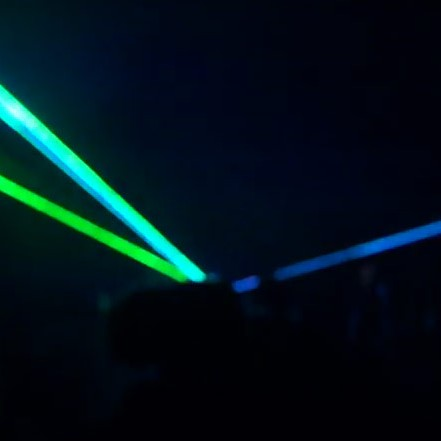 Green & Blue Laser Light Show