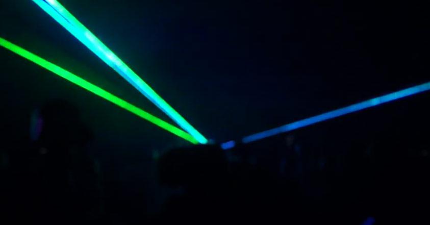 Green & Blue Laser Light Show
