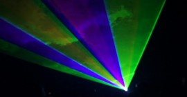 Laser light beams, laser light shows
