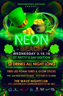 NEON Beach - St Patty's