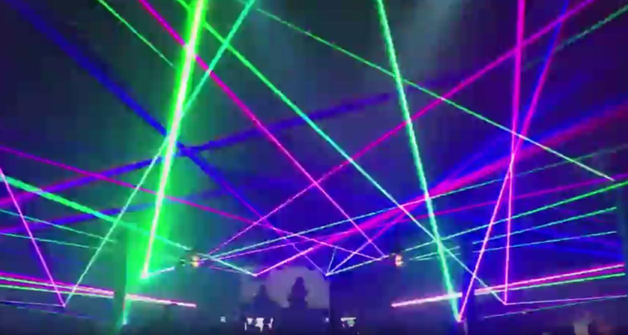 laser light show Green Velvet with the Laser Assassins